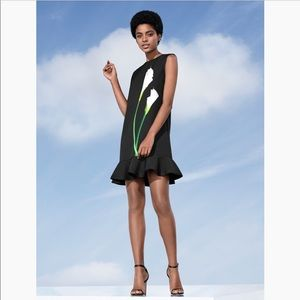 Victoria Beckham Calla Lilly Ruffle Hem Dress New